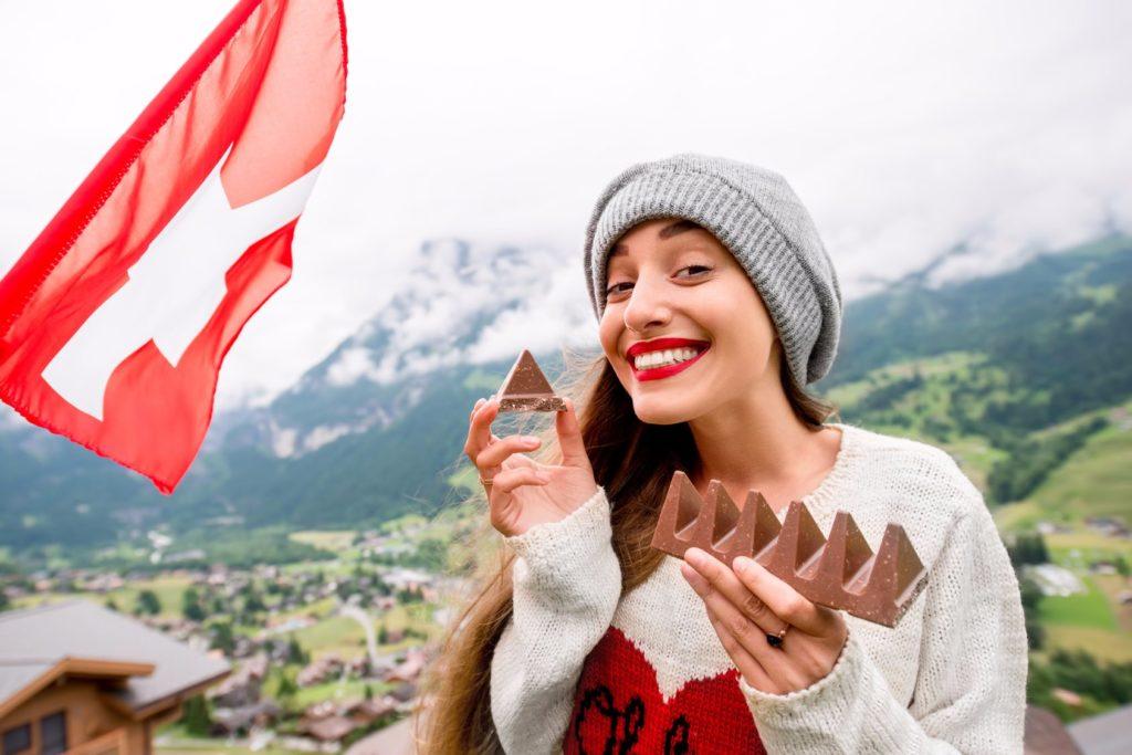 Дружелюбная швейцарка