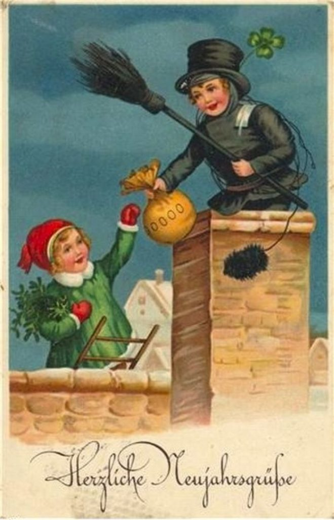 Новогодняя открытка на Удачу