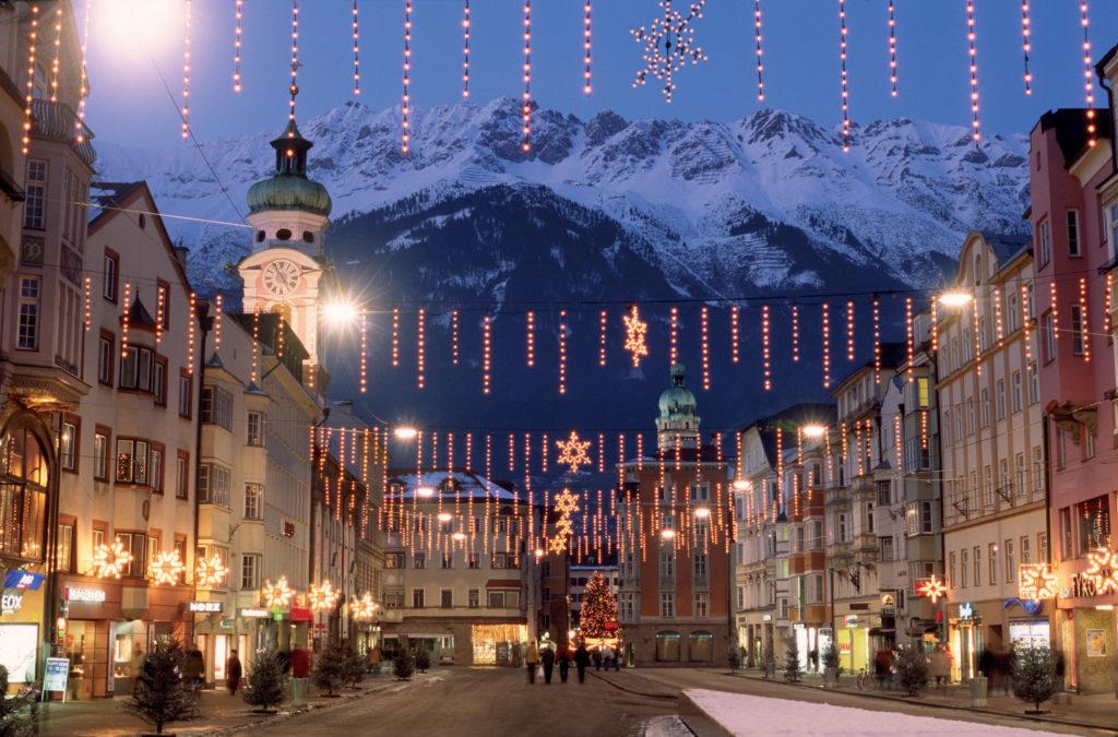 Новый год в швейцарском городе