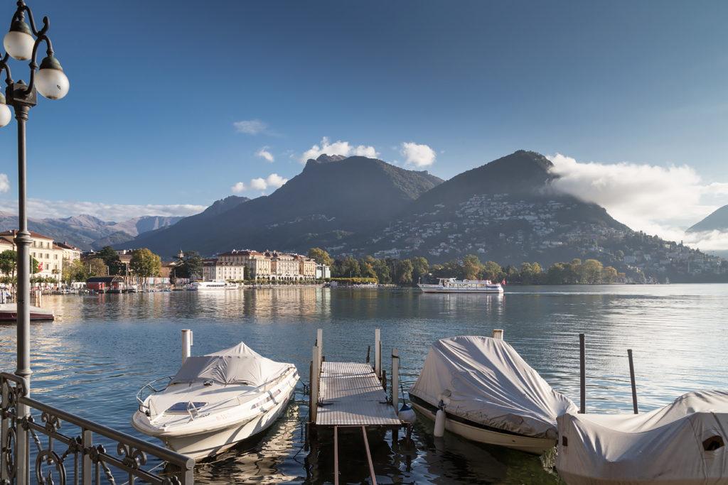 Набережная Лугано. Вид на озеро