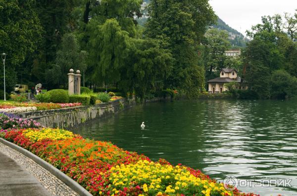 Красивый парк Чивико в Лугано. Швейцария