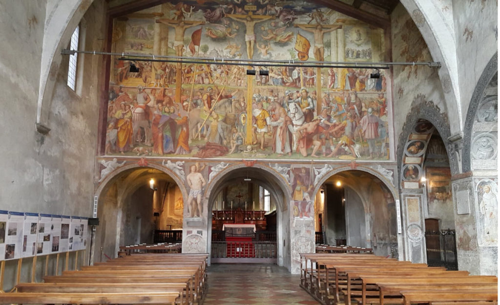 Церковь Святой Марии в Лугано, Швейцария. Интерьер.