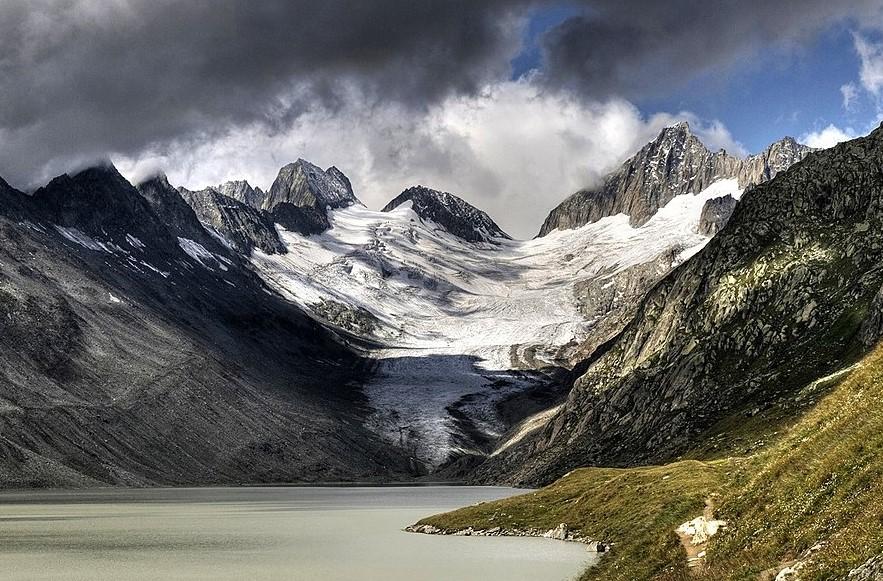 Ледник в Швейцарии Оберарглетчер