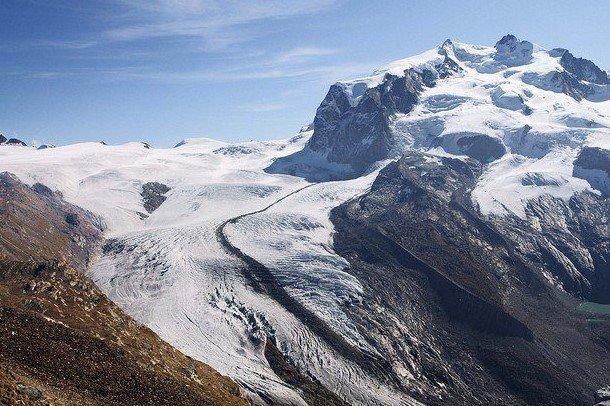 ОДин из самых красивых ледников в Швейцарии