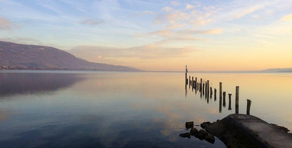 Рассвет на Невштальском озере