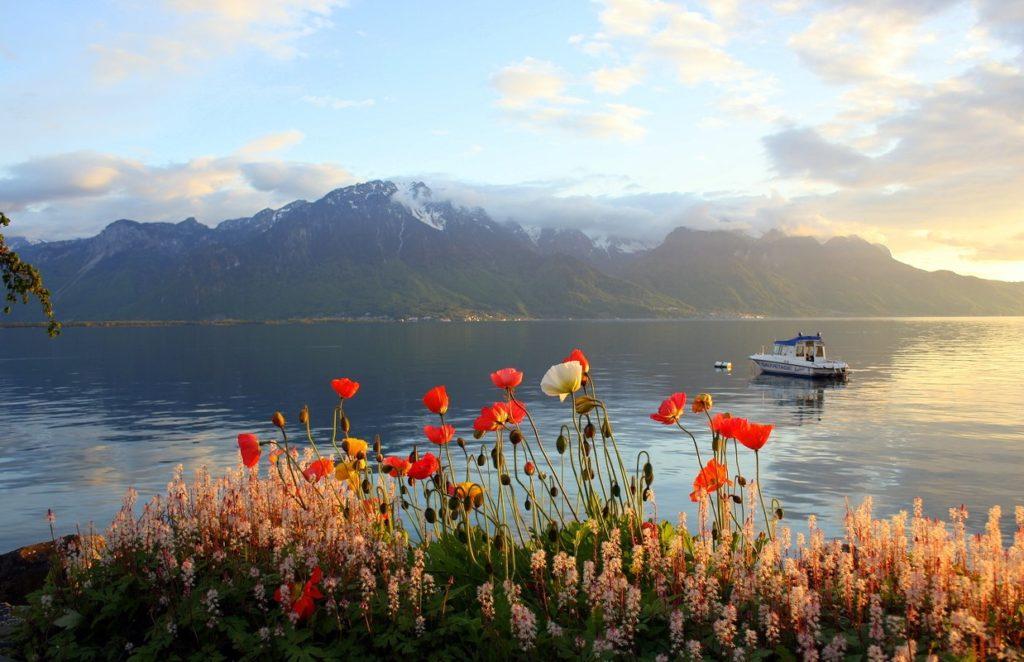 Женевское озеро. Швейцария